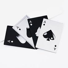 Stainless Steel Poker Card Bottle Opener Poker Playing Card of Spades Soda Beer Bottle Cap Opener Outdoor Tools Kitchen Gadgets цена 2017