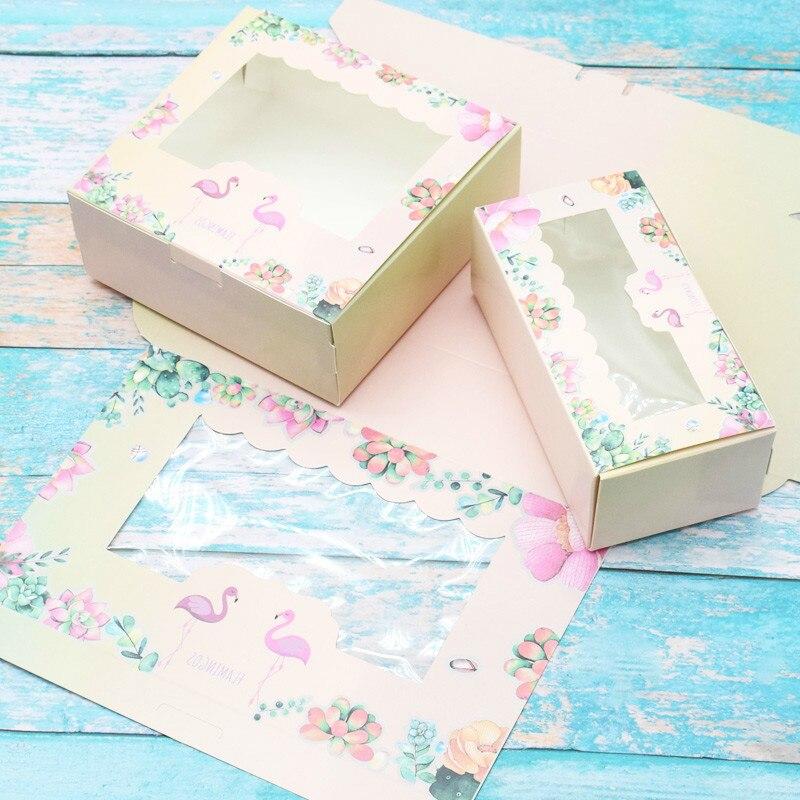 12pcs Paper Flower Pillow Candy Boxes 14x10x2.8 cm Wedding Christmas Gift Decor