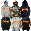 Thrasher SKATEBOARD MAGAZINE The Flame Sweatshirts Men Women Fashion Autumn Winter Warm Fleece Hoodies Brand Clothing Coats