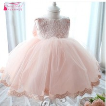 Ball Gown Pink Flower Girl Dresses 2017 Fast Shipping Princess Lace Tulle Wedding Flower Girl Gown robe Pageant White Blue