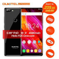 Oukitel MIX 2 Android 7.0 4G SmartPhone Helio P25 Octa Core 6G 64G 5.99 FHD 18:9 Display Mobile Phone Fingerprint ID Cellphone