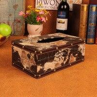 Length 25 CM European handkerchief case napkin box, Wooden Cover Paper Decoration Organizer Napkins Holder Home supplies paper
