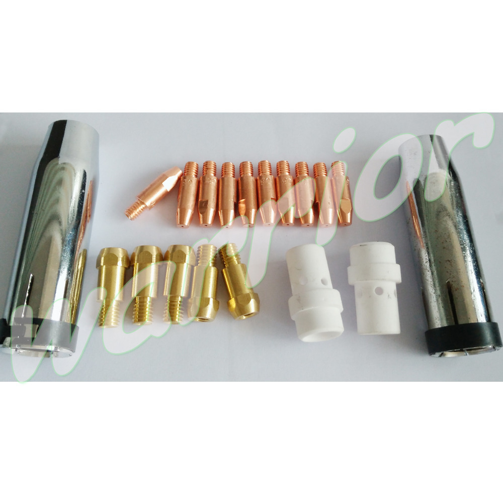 MB 25AK Consumables Kit For MIG Welding Torch With Contact Tips Holder Nozzles