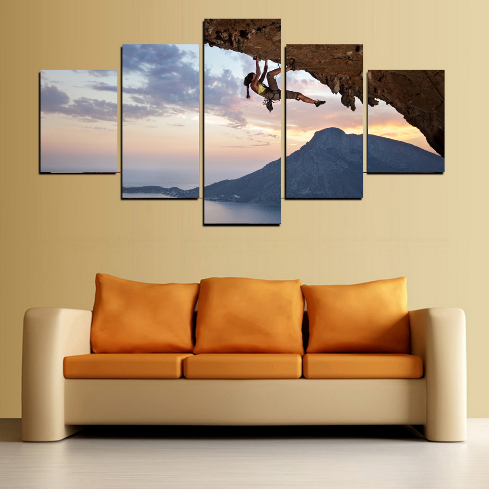 5 Panels Canvas Print Movie Screen Heros Painting for Living Room ...