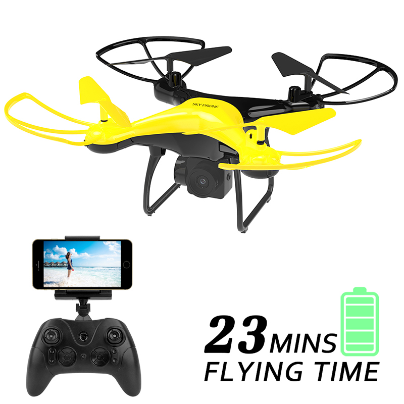 X35 RC Quadcopter With LED 23 Minutes Fly Time Drone With 2MP(720P)WIFI FPV Camera 2.4G 6-Axis, Headless Mode Helicopter ToyX35 RC Quadcopter With LED 23 Minutes Fly Time Drone With 2MP(720P)WIFI FPV Camera 2.4G 6-Axis, Headless Mode Helicopter Toy