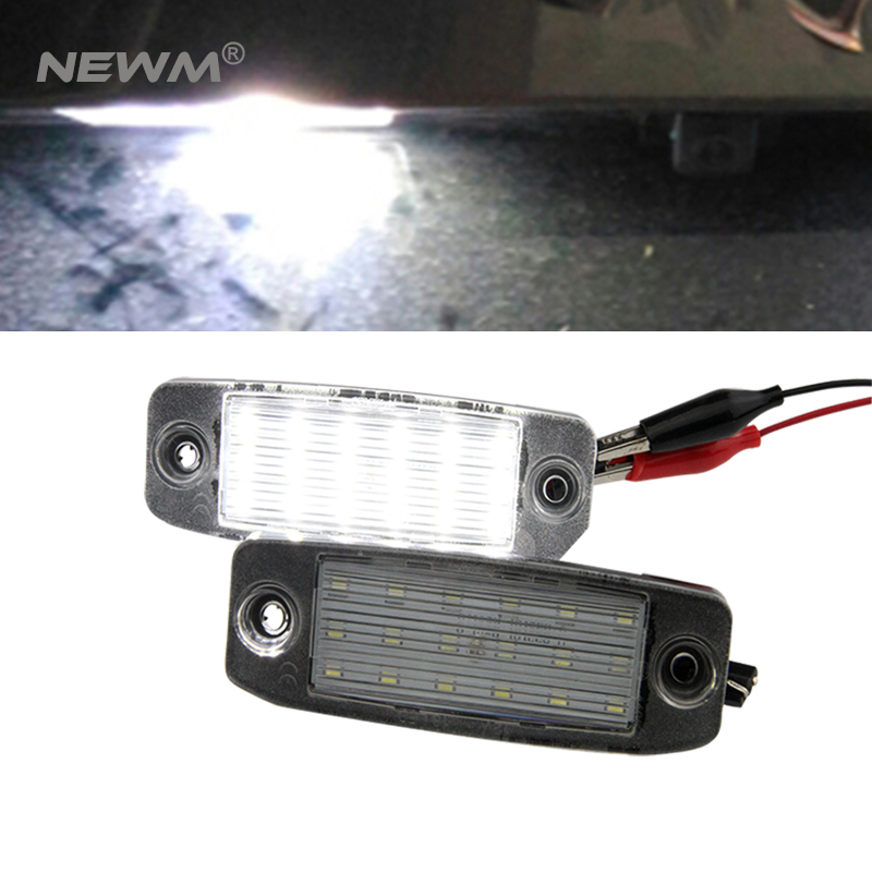 2Pcs Car LED License plate light Number plate lamp for Kia Sportage 2011~ For SONATA 10 10~13 For SONATA YF 10MY 2010~2013 GF 10