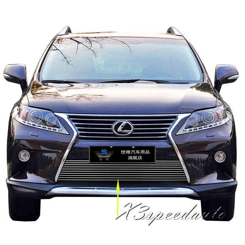 For Lexus RX 2013+ Grill Grille Front Bottom Racing Cover Trim High Quality New Aluminum Alloy