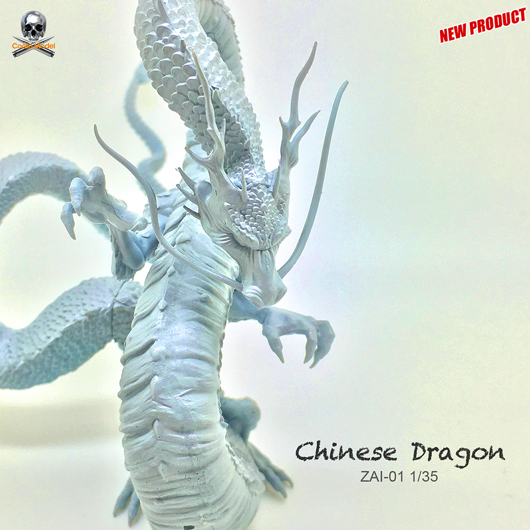 Unpainted-Kit Model-Gk Unassembled Mythology-Series Chinese-Dragon Resin And 90mm 1/35