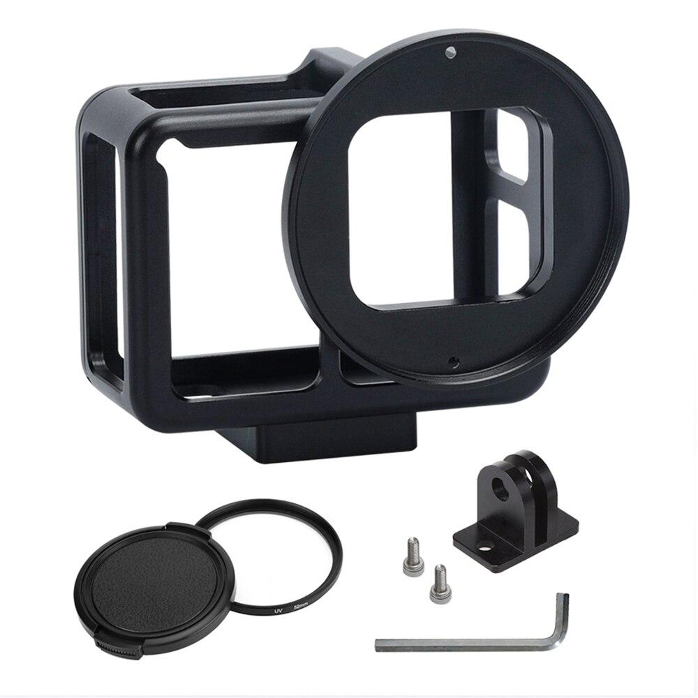 Logement Shell pour Gopro Hero 7 Boîtier En Aluminium Shell Cage Cadre + 52mm UV Lentille pour Gopro Hero 7 camera Action Accessoires