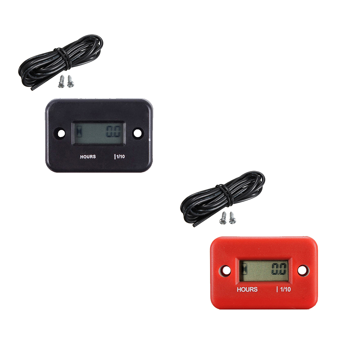 1pcs New Inductive Digital Hour Meter Waterproof LCD Display for Bike Motorcycle ATV Snowmobile Marine Boat Ski Dirt Gas Engine waterproof snap in dc 4 5 12v 24v 36v 48v 60v hour meter counter for generator marine atv motorcycle snowmobile boat jet ski utv