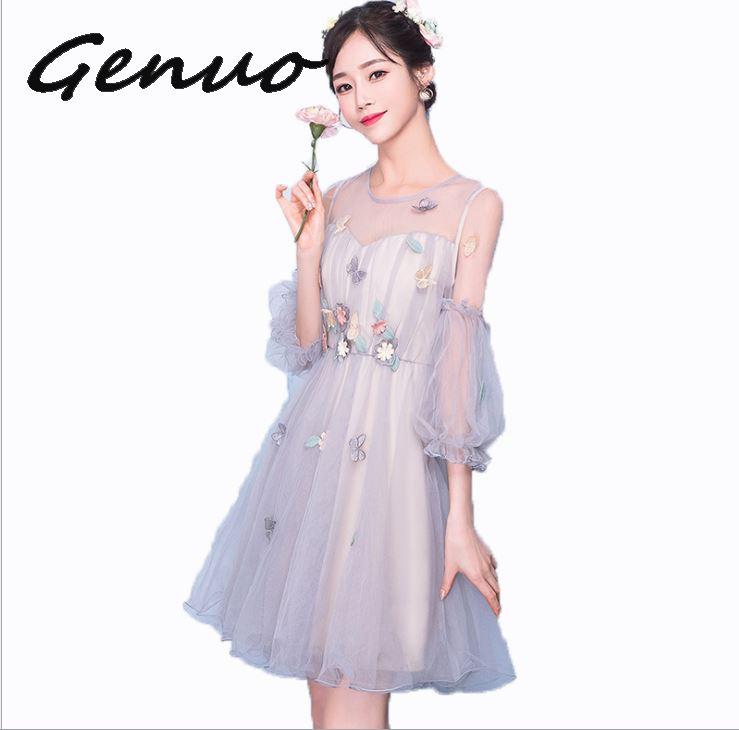 Véritable 2019 nouveau sans épaule Sexy glands Boho robes femmes d'été à manches longues à lacets automne robes de fête