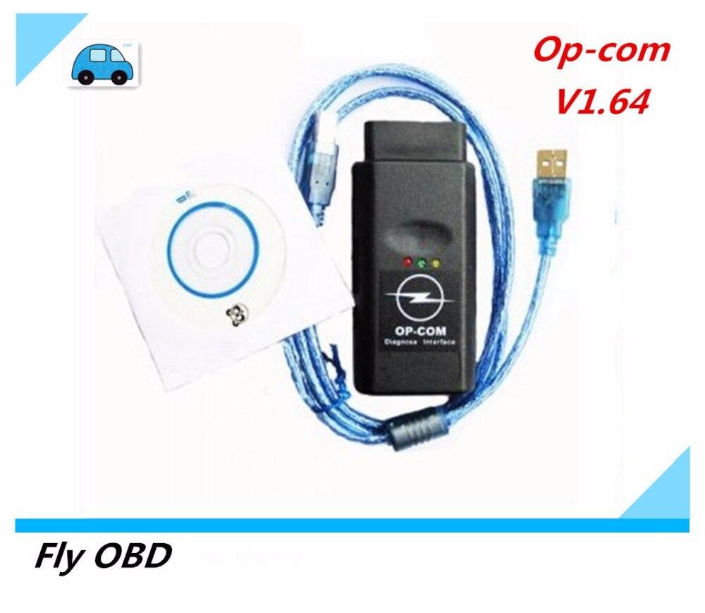 Prix pour 2017 Top V1.64 Firmware OP COM OPEL OPCOM Logiciel 120309A OP-COM CAN BUS Scanner OBDII Outil De Diagnostic Pour Opel PIC18F458 puce