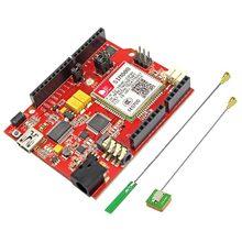 Elecrow SIM808 GPRS GSM para arduino uno + SIMduino UNO 2 en 1 Módulo de Placa de Desarrollo de Proyectos de BRICOLAJE Especialmente Batería interfaz