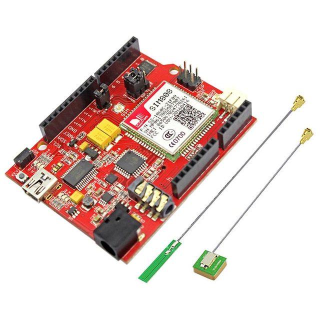 US $43 19 10% OFF|Elecrow SIM808 GPRS GSM for Arduino uno+SIMduino UNO 2 in  1 Development Board DIY Projects Module Specially Battery Interface -in