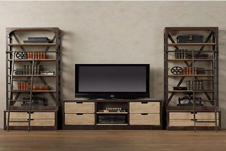Tv Cabinets Tables With Ladder Racks