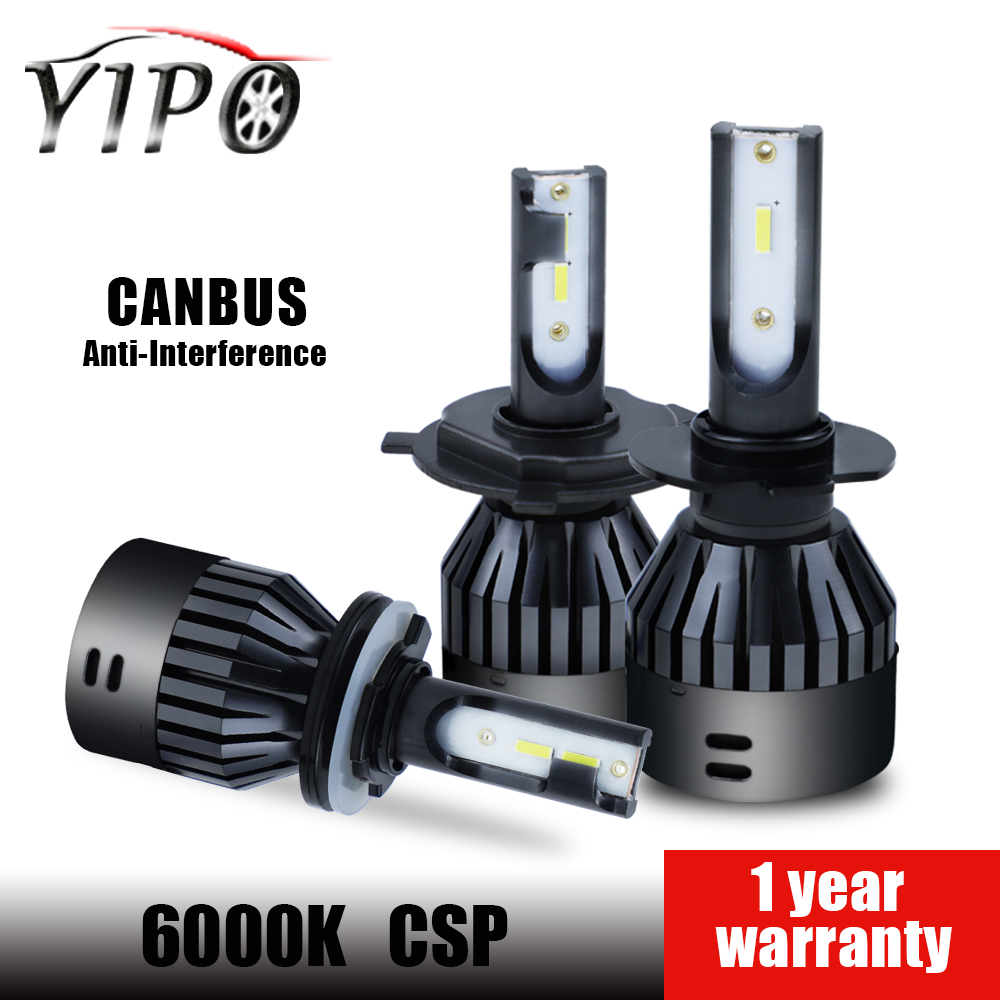 6000k h4 led headlight h7 led bulb 12v 9005 9006 hb3 hb4 D2 9004 9007 H13 H15 headlamp hi/lo beam 6000lm 60w CSP CANBUS NO FREE-in Car Headlight Bulbs(LED) from Automobiles & Motorcycles