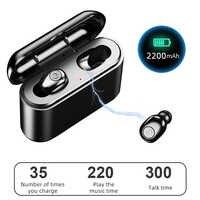 X8 Tws Auricolare Bluetooth Mini Auricolare Bluetooth Senza Fili 5D Stereo Sport Auricolare Impermeabile con 2200 Mah di Ricarica Scatola Auricolari