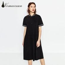 fe1abeff81f4 Collo in maglia a righe patchwork midi dress 2017 primavera e l estate  delle donne di marca dress chiusura lampo anteriore a-lin.