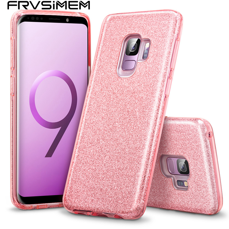 3 Layer Drop Proof Bling Glitter Case for Samsung Galaxy J3 J5 J7 2017 J2 Prime J7 Neo Core Duos J701 J4 J6 Soft Silicone +PC