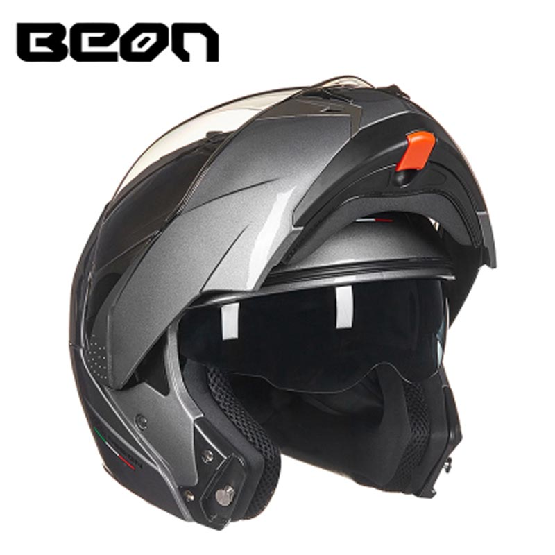 BEON motorcycle flip up helmet open full face helmets Casco Motocicleta Capacete double lens helmets ECE red green lines double lens motorcycle crash helmet high quality flip up electric motorbike full face motorcycle helmet