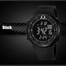 GEMIXI Men Sports Watches Multi Function Military Swimming Waterproof Watch LED Digital Dual Movement Rubber Wrist Watch 2018