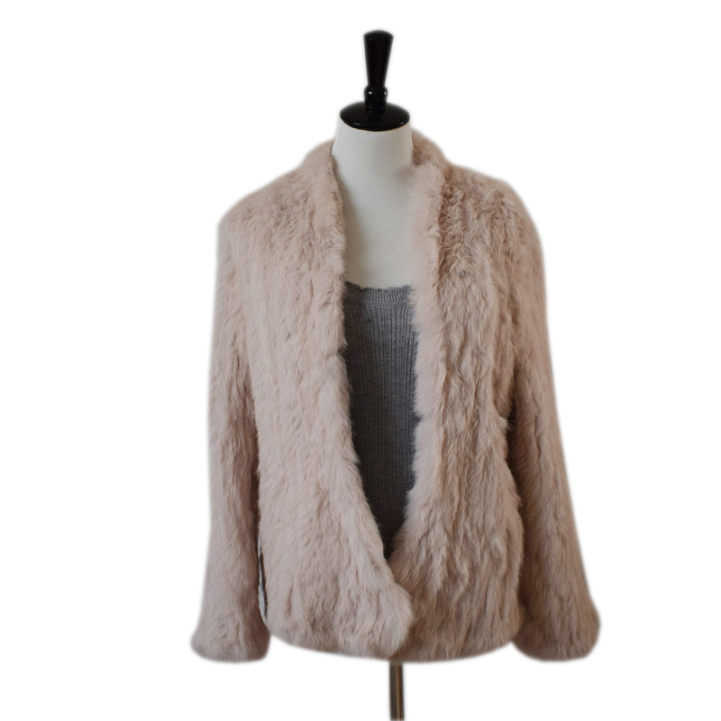 SALE Free shipping women natural real rabbit fur jacket waistcoat jackets rabbit knitted winter warm coat
