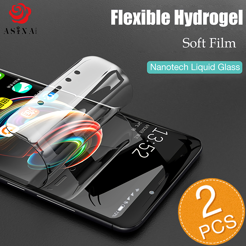 ASINA Screen Protector For Samsung Galaxy S8 S9 Plus Hydrogel Film Full Coverage Liquid Film For Galaxy Note 8 9 S10 Plus