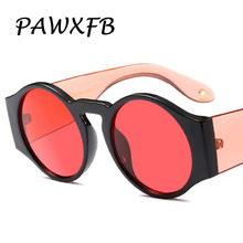 Pop Age 2018 New Round Sunglasses Women Men Ocean Red Blue Yellow Female Steampunk Eyeglasses Lunettes de soleil