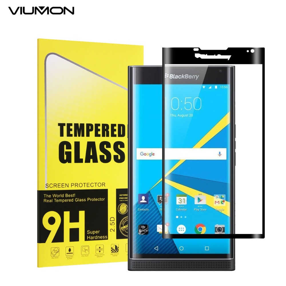 Explosion-proof 3D Curved Full Cover Tempered Glass Screen Protector for BlackBerry Priv Protective Film