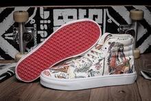 Vans classic unique vault pattern sk8 hi pro unisex canvas shoes for men's and women's os graffiti motif skateboarding sneakers