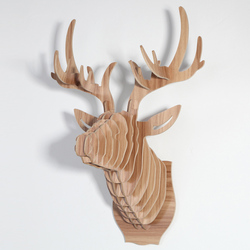 1 set 9 Color 25 Inch Large Wood Animals Head Wooden Deer Head Hangings For Art Home Wall Decoration IW-WD001