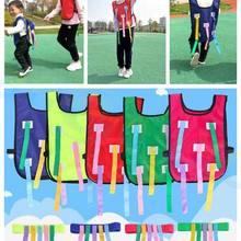 Спортивная игра школа детский сад ребенок родитель-ребенок на открытом воздухе тренировочное оборудование дети ловить хвост жилет пояс детские игрушки