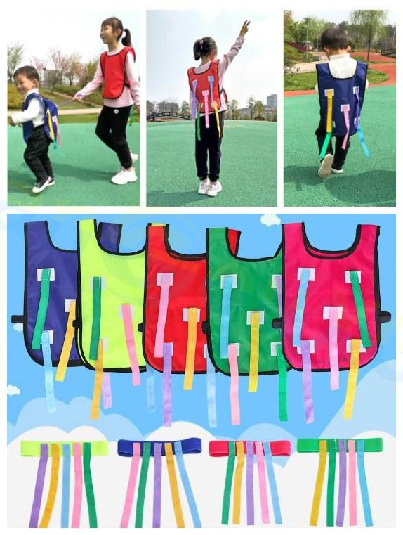 Sports Game School Kindergarten Baby Parent-child Outdoor Activity Training Equipment Children Catching Tail Vest Belt Kid Toys