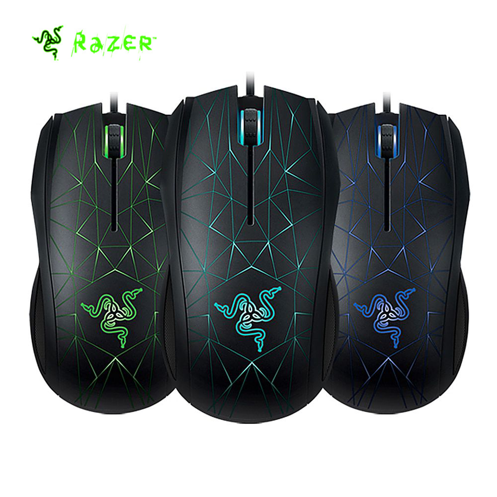 Razer Taipan 3500 Wired Laser Sensor USB Wired Optical Game Mouse Three-colors LED Backlight Ambidextrous eSports 3500DPI Mouse razer taipan usb 2 0 wired 8200dpi dual sensor system laser gaming mouse black 200cm cable
