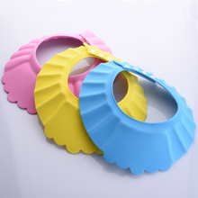 3 Colors 1Pcs Soft Baby Kids Children Shampoo Bath Shower Cap Adjustable Baby Shower Hat Baby Shampoo Cap Wash Hair Shield