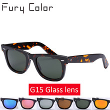 Настоящее Стекло линзы зеркало солнце Стекло es Для мужчин Для женщин 50 мм  G15 объектив очки модные заклепки Дизайн Одежда высш. d7467b8ce33bb