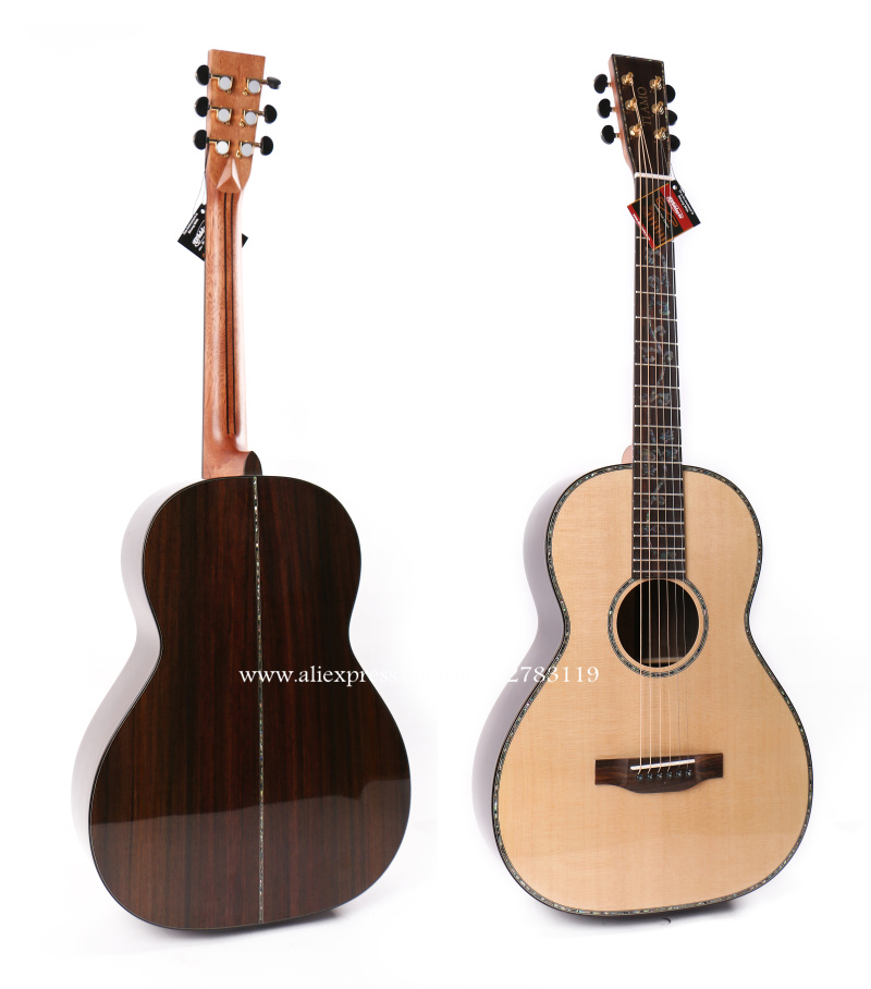 38 inch acoustic guitar with solid spruce top solid rosewood body chinese guitarra guitars. Black Bedroom Furniture Sets. Home Design Ideas