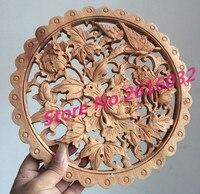 Dongyangไม้แกะสลักcraftworkตกแต่งจีนโบราณบรรเทาการบูรไม้แขวนผนัง28พลัมดอกไม้นก