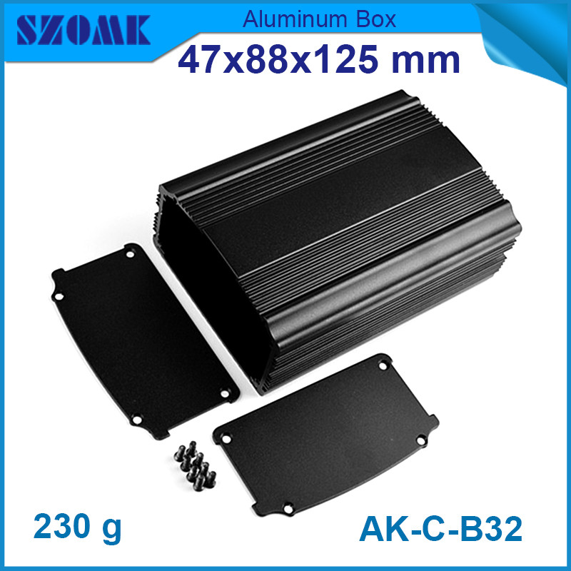 4pcs lot anodizing and powder coating aluminium enclosure for projector in black color 47x88x125mm