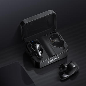 Image 5 - Blitzwolf bluetooth V5.0 TWS kablosuz kulaklık Stereo kulaklık su geçirmez mikrofon spor kulaklık telefon için şarj kutusu ile