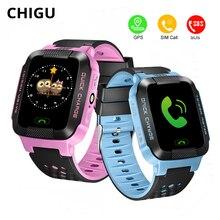 купить Chigu Smart Watch Kids GPS Tracker Touch Screen Baby Watch With SIM Card Bluetooth Smartwatch For iOS Android PK Q50 Q90 онлайн