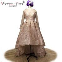 VARBOO ELSA 2018 New Bling Bling Luxury Evening Dress Short Front Long Back Prom Dress Long