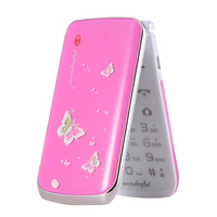 unlocked Flip phone Russian keyboard touch screen dual sim cheap girl mobile phone gsm china cellular Phone clamshell Telephones