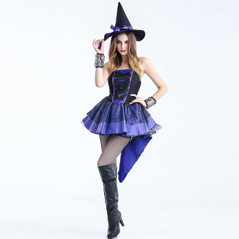Adult Sexy Gothic Queen Witch Costumes Outfit Dress Fancy Cosplay Carnival Costume Sexy Dresses Halloween Costumes For Women (2)