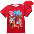 2016 New 4-12 years summer boys t shirt kids baby The Secret Life of Pets children clothing clothes for girls t-shirts Boy Tops