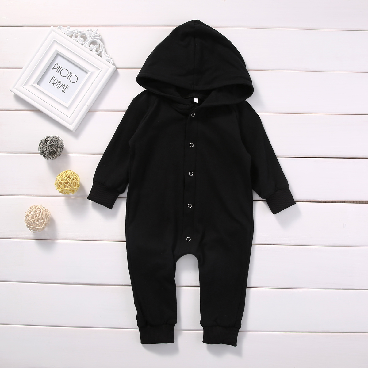 2017 Hot Newborn Infant Warm Baby Boy Girl Clothes Cotton Long Sleeve Hooded Romper Jumpsuit One Pieces Outfit Tracksuit 0-24M newborn infant baby girls boys rompers long sleeve cotton casual romper jumpsuit baby boy girl outfit costume