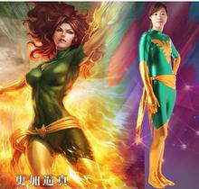 Free Shipping Dark Phoenix Cosplay costume X-Men Phoenix Superhero Bodysuit Women 3D Spandex Zentai Halloween Party suit free shipping 3d printting female x men dark phoenix superhero costume new jean grey cosplay costume tight catsuit bodysuit