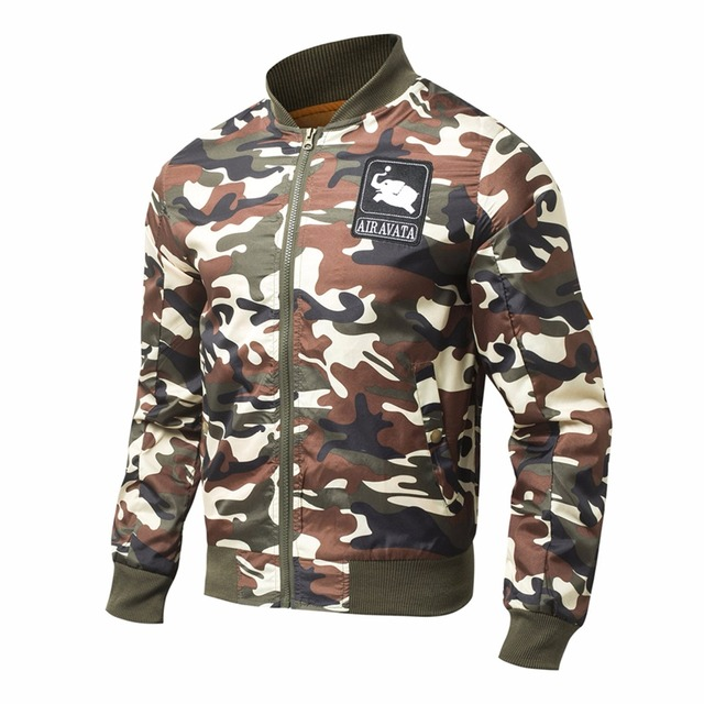 Fashion Casual Bomber Jacket Army Waterproof Outerwear Autumn Spring Jackets Warm Cotton Coats for Men Clothing 2017