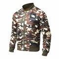 Moda casual jaqueta bomber exército à prova d' água outerwear outono primavera casacos quentes casacos de algodão para homens clothing 2017