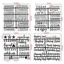 4 шт./компл. персонажей для Войлок письмо доска Номера для со сменными буквами доска